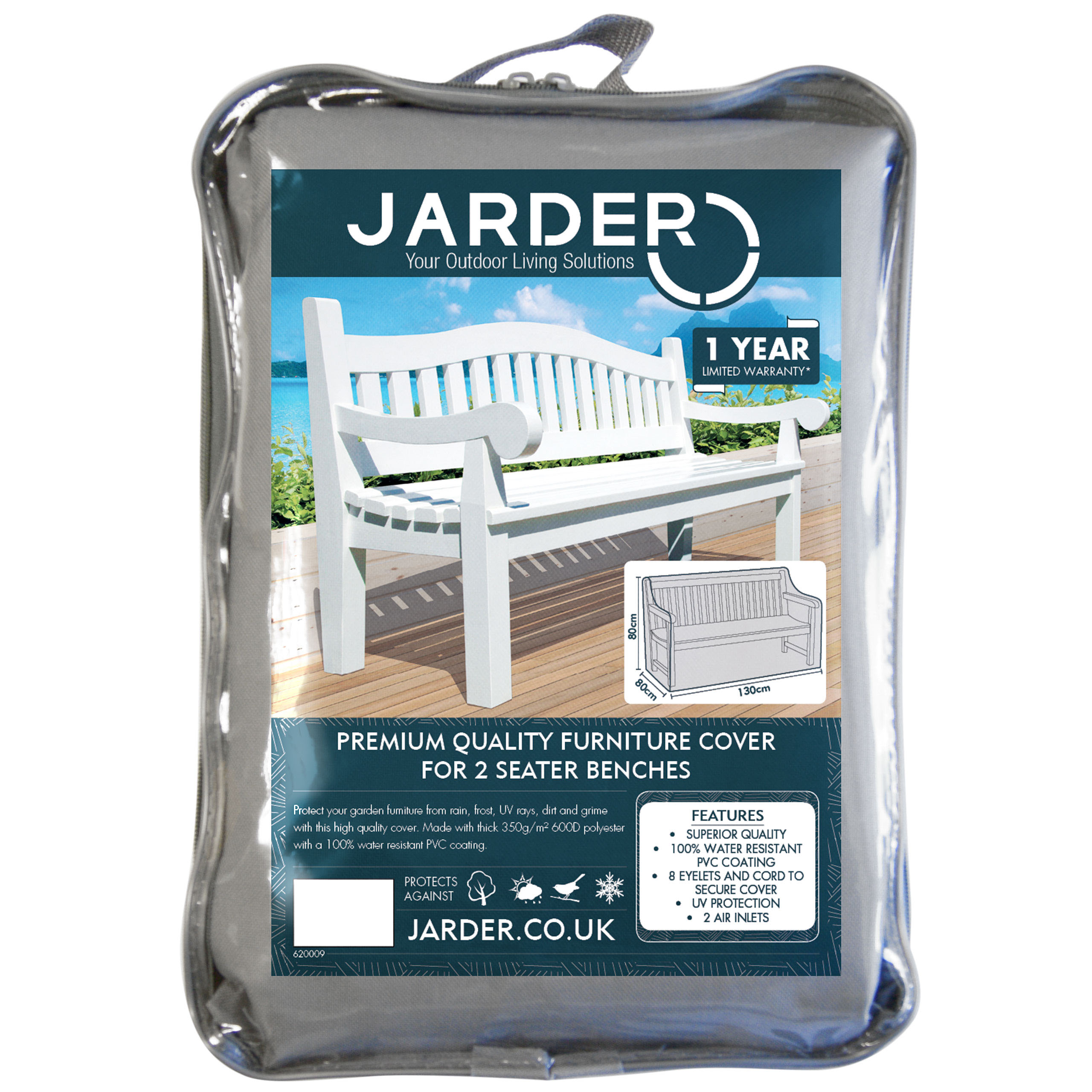 jarder 2 seater bench cover