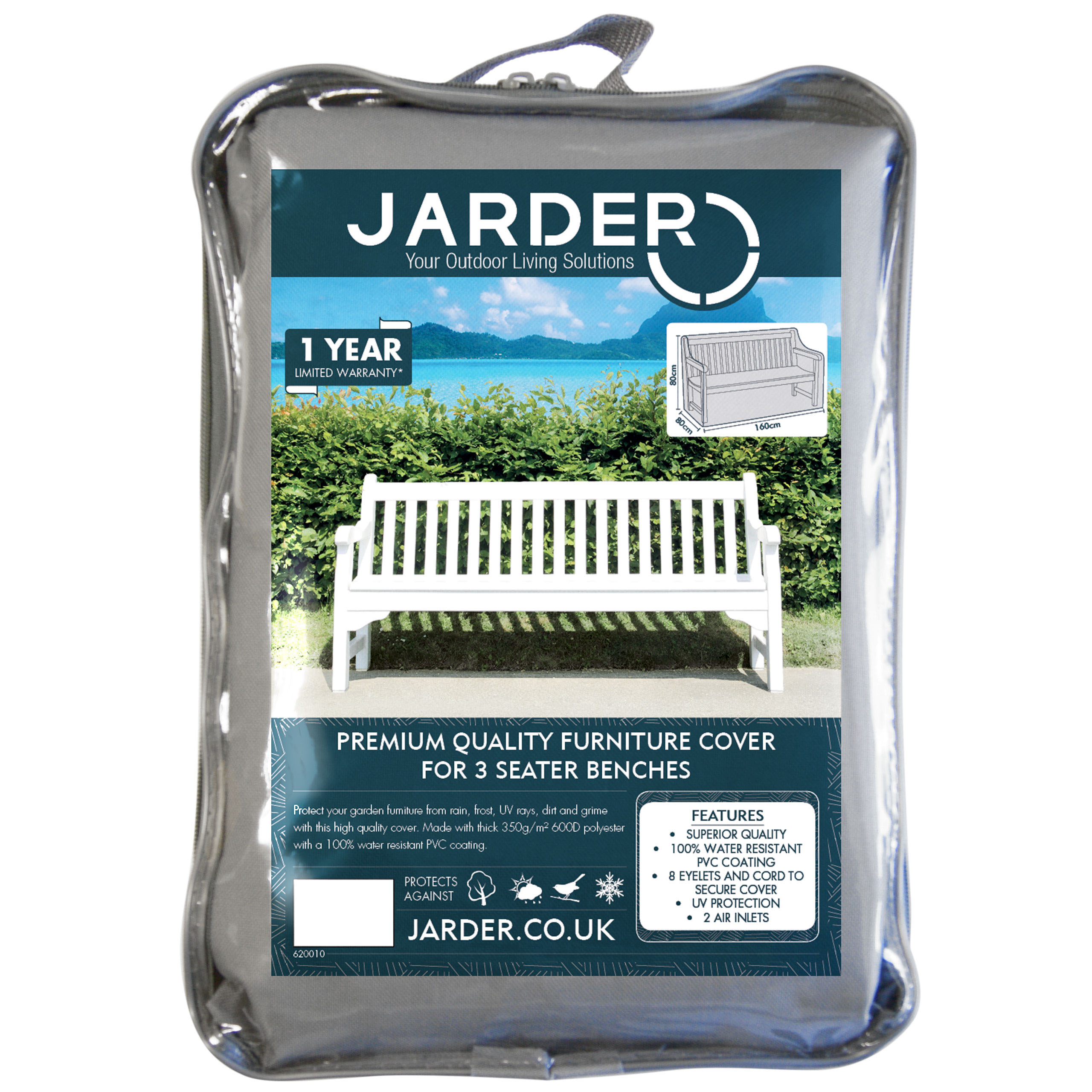 jarder 3 seater bench cover