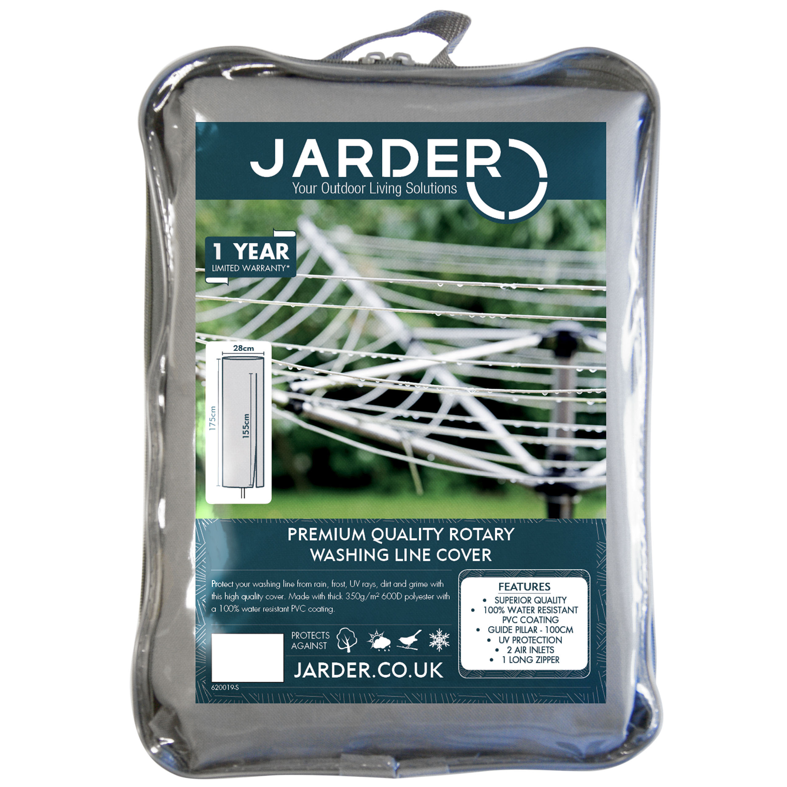 jarder rotary washing line cover