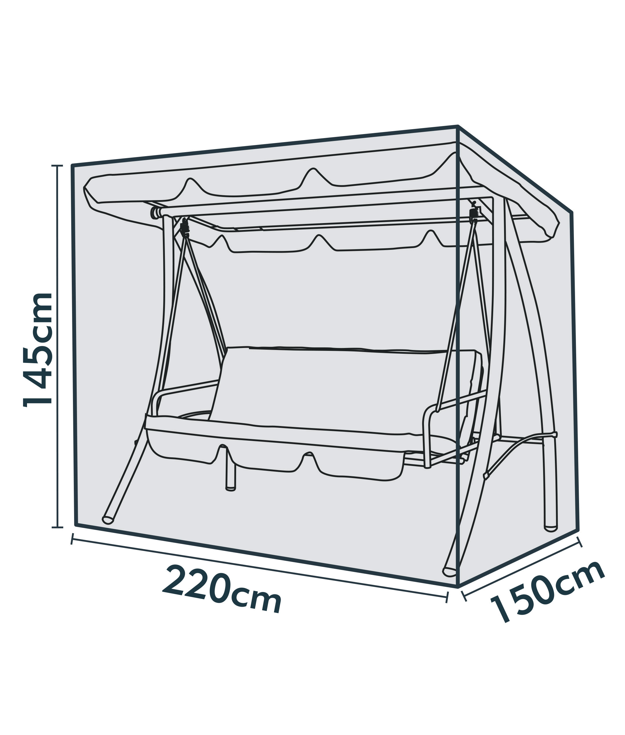 jarder swing seat cover dimensions