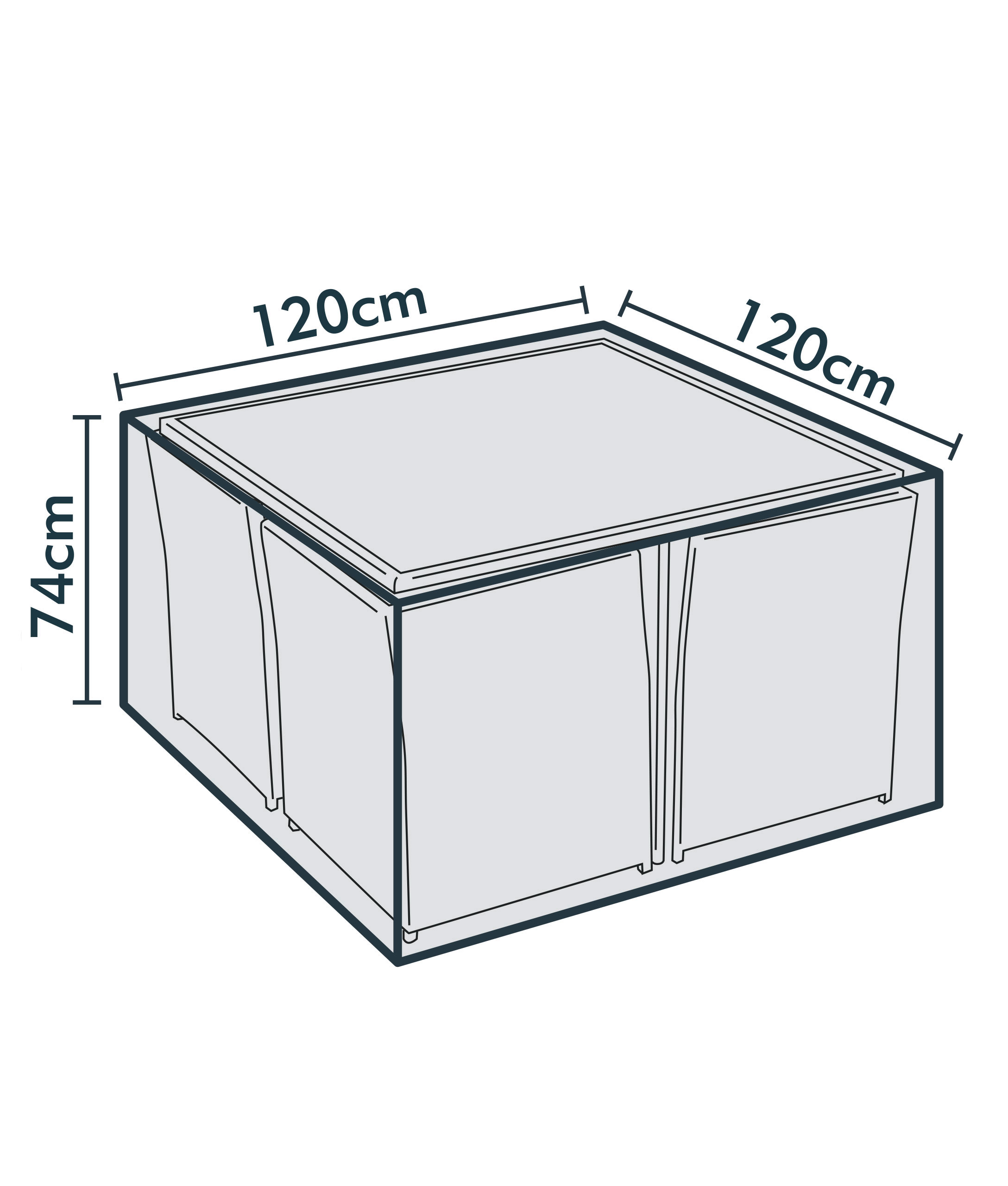 jarder cube dining set cover dimensions